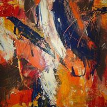 Mariangela Tirnetta, Rinascita I, 2011, tecnica mista su tela, 40x40 cm