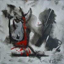 Mariangela Tirnetta, Trasparenza III, 2010, tecnica mista su tela, 35x35 cm