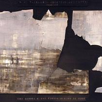 Simone Boscolo, Prima visione di Emanuele Gudester, 2009, tecnica mista (foto e acrilico su forex), 70 x 100 cm