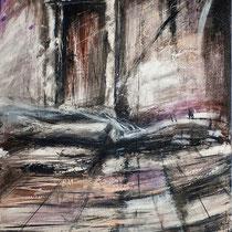 Sonia Zaffoni, Oltre la soglia, 2007,  acrilico su tavola, 65x75 cm