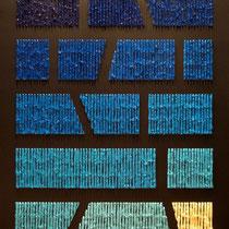 Fabrizio Trotta, Chromotherapy Blue to white, 2011, olio su tela, 80x100 cm