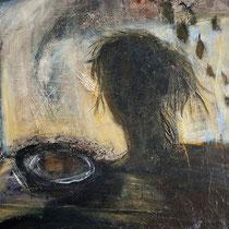 Sonia Zaffoni, Uscita dal sogno, 2010, acrilico su tavola, 75x85 cm