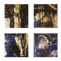 Leonardo Balbi, Black & gold, 2009, olio su tela, 30x30 cm