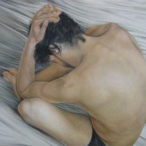 Lisa Sabbadini, Pensieri, 2011, olio su tela, 100x70 cm