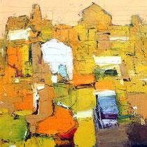 Ivo Stazio, La casa bianca, 2011, olio su tela, 50x60 cm