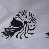 Gaja Lanfranchi, Nautilus, acrilico su stampa digitale, 38x103 cm