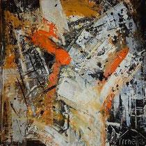 Mariangela Tirnetta, Tracce III, 2011, tecnica mista su tela, 70x70 cm