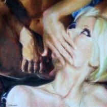 Vittorio Pasotti, Storia d'amore. L'invito, olio su tela, 50x70 cm