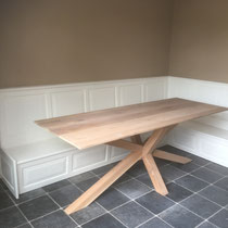 Tafel met houten bank op maat