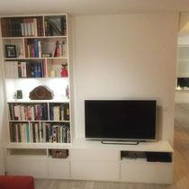 tv-meubel met boekenkast