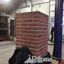 11 schoorsteen aluminium Composiet steenstrips Rijpma siersmederij
