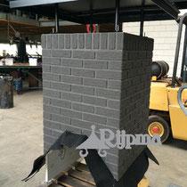13 schoorsteen aluminium Composiet steenstrips Rijpma siersmederij