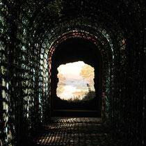 Optische Täuschung im Garten des Schwetzinger Schlosses