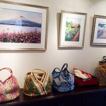 刺繡絵も新作がたくさん!好評を頂いた富士山の刺繡絵。