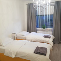 Double room of a private apartment mediated by 4yourfairs.
