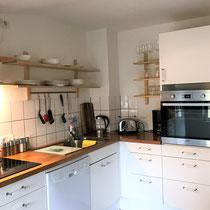 Wohnbeispiel Küche eines privaten Messehauses zur Ligna über 4yourfairs