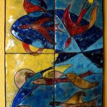 Fliegende Fische, 1965; 58 x 30 cm