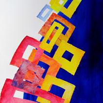 "Zugvögel an einem Juliabend auf der ""Promenade de la Corniche"", Sète,  Peter Diziol; 80x 60 cm, 2013"