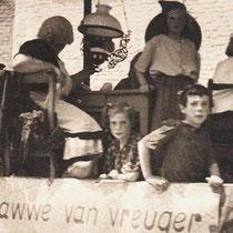 """Tijdens de """"Bulscher""""feesten, die om de 3-6 jaar gehouden werden, trok een bonte stoet met muziek,  wagens en groepen door het dorp met als hoofdpersoon vader Bulscher."""