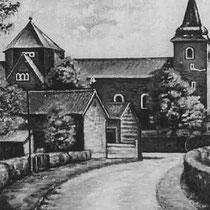 SLAGBOOMSWEG Zicht op de St Bavokerk