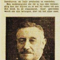 Dirigent Léon Hermans (neef van Henri) Werd later dirigent van het Pancratiuskoor in Heerlen, en is componist van vele mannenkoorwerken