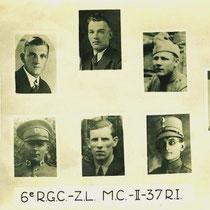 Naast Willem Vonken(midden boven) uit Nuth, sneuvelden nog meer soldaten bij het verdedigen van de bruggen......