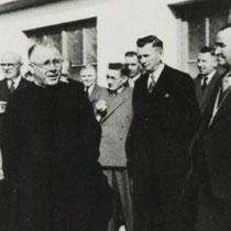 Opening van de kleedlokalen in 1949