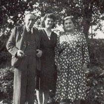 Henk Bloebaum en zijn vrouw Bloebaum Röck , in het midden toekomstige schoondochter Lieske Vromen uit Brunssum  (met dank aan Henk Bloebaum j.r.)