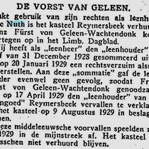 8 - 11 - 1929 Het Vaderland