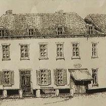 STATIONSTRAAT  Rechts pand Driessen (café) Links Pand Habets (Habé schoenenzaak)