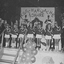 Dansgroep (tanzmariekes) van de Nachuule, Op bezoek in Alsdorf (Dl.)  v.l.n.r. Thea de Rooij, Francis Jacobs, Wies Korsten, Ans Souren, Rosi Korsten, Marij de Rooij, Anita Bloebaum.  Met dank aan Marij de Rooij