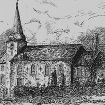 KERKSTRAAT St Bavokerk omstreeks 1900