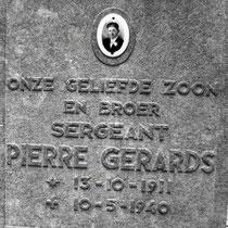 Petrus Josephus Gerards13 oktober 1911 Nuth (Limb.)10 mei 1940  Ten westen van Geleen lagen drie bruggen [Stein, Urmond en Berg] over het Julianakanaal. Zij waren doelwit van overvalcommando's, verkleed als Nederlandse militairen. Bij Stein was een overva