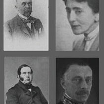 Linksboven - Jhr. A.H.J.H. Michiels van Kessenich Rechtsboven - Mevrouw Michiels van Kessenich. Linksonder - Jhr.Mr. F.B.H. Michiels van Kessenich. Rechtsonder - Jhr. Mr.G.A.H. Michiels van Kessenich.