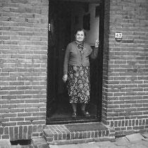 Mevr. Bloebaum - Röck  Bavostraat nr. 43 in de oorlogsjaren 40- 45  (met dank aan Henk Bloebaum j.r.)