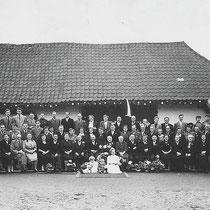 50jarig huwelijksfeest van, de Heer en mevrouw Salden 1954
