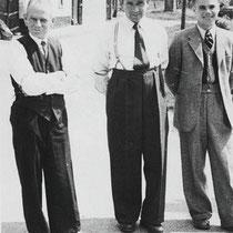 v.l.n.r. Giel Hautvast, Joep Keulen, J Kuipers
