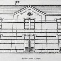 De Nederlandse Zuiderspoorwegmaatschappij (N.Z.S.M.)  ontving van de gemeenten subsidie in ruil voor een station.  Om de eenheid te bevorderen werden in Geleen, Spaubeek, Schinnen, Nuth, Hoensbroek en Schaesberg dezelfde stationsgebouwen neergezet.