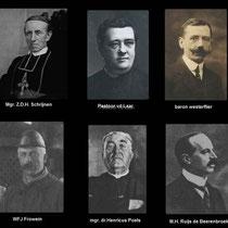O.m. waren aanwezig mgr.Schrijnen, bisschop van Roermond; mgr. Mannens, vicaris-generaal; Mgr. Dr Poels,  de pastoors van Hoensbroek en Nuth; de commissaris van de koningin, Mr. baron v. Hövell tot Westerflier; de graaf van Amstenrade, Marchant d'Ansembou