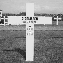 Guillaume Gelissen (Willy)  Rang Sld.1-RS  Overleden op 18-07-1946 in Semarang  Begraven op het Nederlands ereveld Candi te Semarang Indonesië