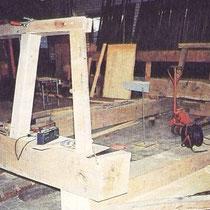 De bouw van de kapconstructie