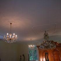 Decke fertig renoviert, Villa in Göttighofen