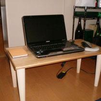カバ桜集成材の自作ローテーブル 2台目