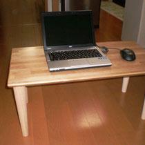 カバ桜集成材の自作ローテーブル 1台目