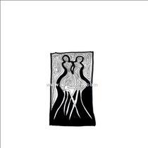 Entrelac d'ombres 3 - 15x15 - 2005 - Encre- toute reproduction interdite