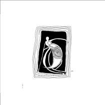 Entrelac d'ombres 9 - 15x15 - 2005 - Encre- toute reproduction interdite