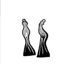 Entrelac d'ombres 6 - 15x15 - 2005 - Encre- toute reproduction interdite