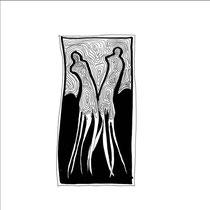 Entrelac d'ombres 11 - 15x15 - 2005 - Encre- toute reproduction interdite