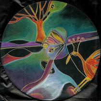 Songes  3 - pastels secs - 2010 - diam 20cm - Toute reproduction interdite