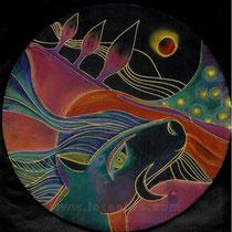 Songes  1 - pastels secs - 2010 - diam 20cm - Toute reproduction interdite